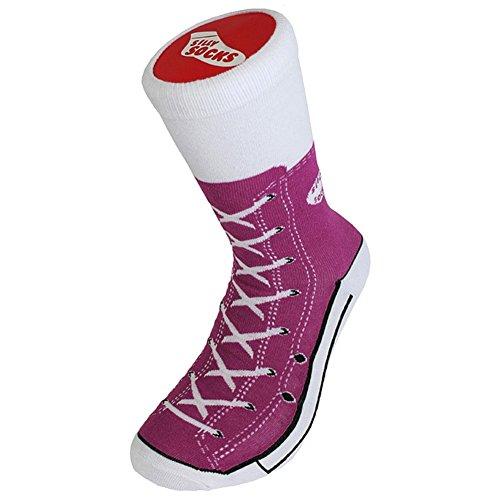 Funky Dumme Socken Erwachsene Sneaker Socken 3 Paar Geschenk Set - Boxed