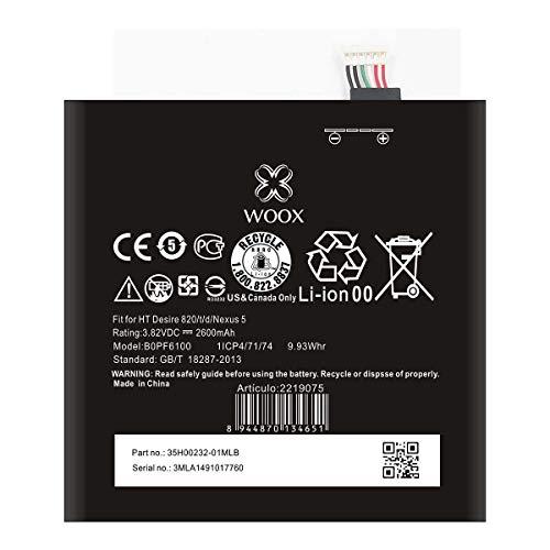 Todobarato24h Bateria Compatible con HTC Desire 820/NEXUS 5 2600MAH 3.82V 9.93WH