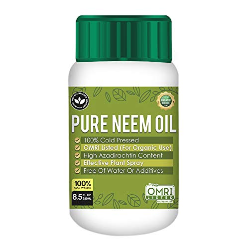 Pure PetraTools Neem Oil, 100% Cold Pressed, Ultra High Azadirachtin Content, Essential Oil for Skin, Hair and Nails, Plant Concentrate, Leaf Polish, (No Additional Additives), OMRI Listed (8.5 Fl Oz)
