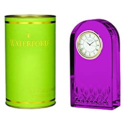 TableTop King Pink Lismore Essence Desk Collection Clock - Additional Vibrant Colors Available