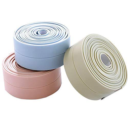 DXIA 3Pcs Selbstklebende Dichtband Wasserdicht, Wasserdicht Wannendichtband Fugenband, PVC Selbstklebende Dichtband und Verhindert Schimmel,für Küche, Bad Dusche,Waschbecken, Fenstern, Türen