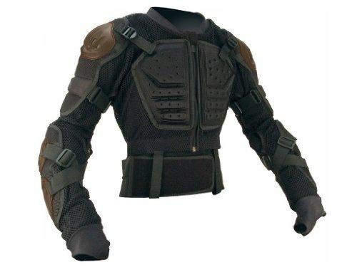 iXs Sports Division Assault Giacca protettiva da uomo, Nero, L-XL