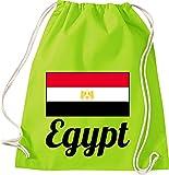Shirtinstyle Gimnasio Saco Bolso para Deporte Ländersack Egipto Egipto - Lima, 46 cm x 36 cm