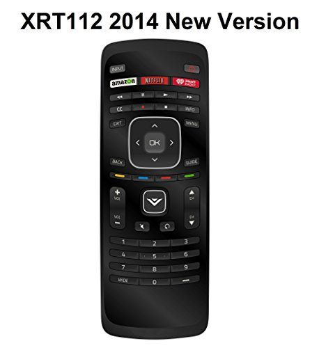 New XRT112 iHeart Remote fit for VIZIO 2014 2015 Smart LCD LED TV with Amazon Netlix iHeart Radio App Key