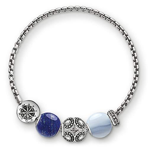 Thomas Sabo Damen-Armband Starke Welle Karma Beads 925 Sterling Silber KT0015-677-7-L20