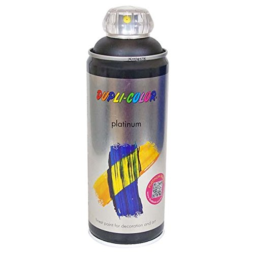 Duplicolor 720956 Platinum Spray, Color Negro Mate, 400 ml