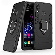 Huawei Nova 3i Iron Man 2018 Protection Cover Case With Metal Ring & Magnetic Car holder, Black