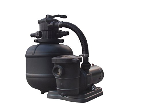 FlowXtreme NE4499 Pro 2 19-in 150lb Sand Filter System 2SP Pump for AG Pools, 5280-2400 GPH/1HP, Black