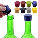 xiaowang 8 Stück Weinflaschenverschluss aus Silikon, kreativ, wiederverwendbar, für Champagner,...