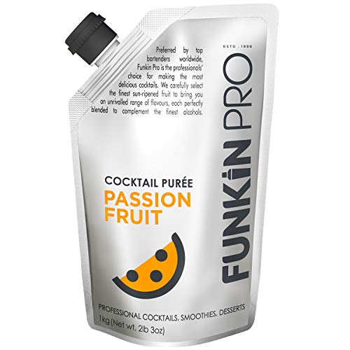 Funkin Passion Fruit Puree | Real Fruit, Two Ingredient, Natural Mixer for Cocktails, Drinks, Smoothies | Vegan, Non-GMO, Gluten-Free (2.2 lbs)