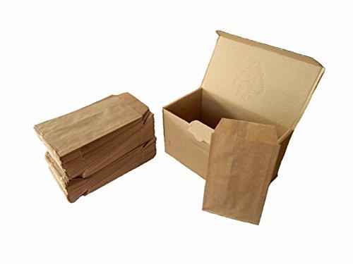 250 Sobres bolsas de papel kraft (Marron)