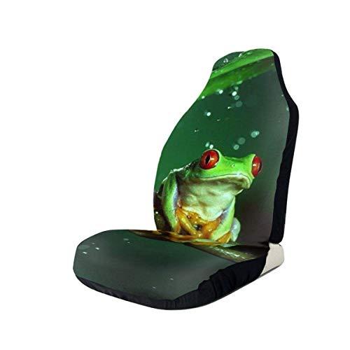 YAGEAD Autositzbezüge Frosch und Regen Bedruckte Autositzbezüge Vordersitze passen für die meisten Autos, LKWs, SUVs