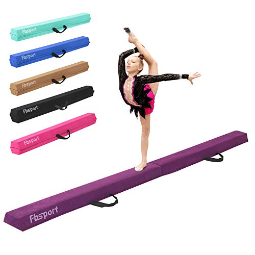 FBSPORT 10ft Balance Beam: Folding Floor Gymnastics Equipment for Kids Adults,Non Slip Rubber Base, Gymnastics Beam for Training, Practice, Physical Therapy and Professional Home Training
