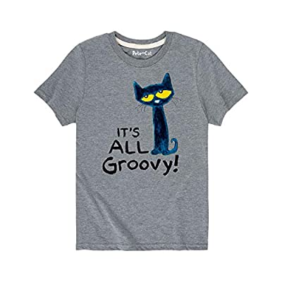 Pete The Cat It's All Groovy - Toddler Short Sleeve Tee Athletic Heather