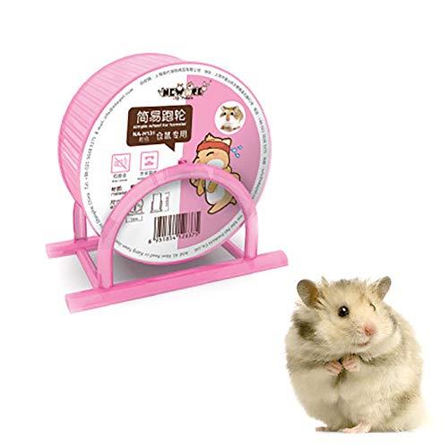 1PC Hamster-Rad-Pet Comfort Tretmühle Laufräder Quiet Hamster Laufrad Stille Spinner groß und leicht anbringen to Wire Cage für Kleintiere (Pink)