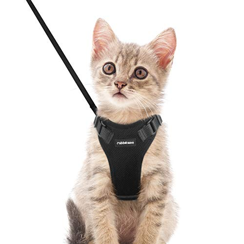 rabbitgoo Cat Harness and Leash Set for Walking, Plush Escape Proof Walking Outdoor Vest for Cold Weather, Adjustable…