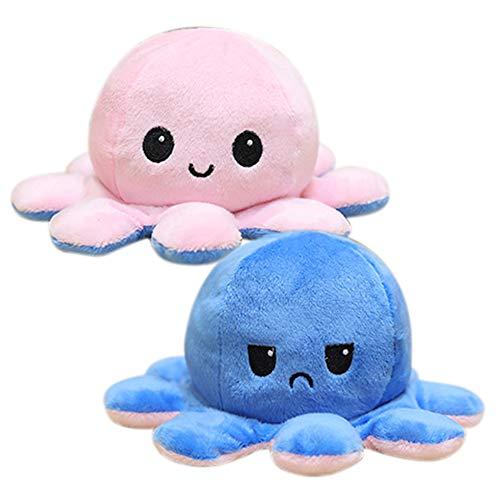 COOTA Peluche de Pulpo Reversible muñeco Vibrante de Doble Cara Bonitos Juguetes de Peluche Regalos de Juguetes Creativos 1pack