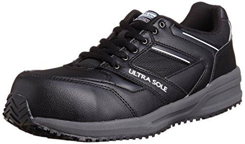 [マルゴ] 安全靴 作業靴 樹脂製先芯 耐油 耐滑 踵衝撃吸収 JSAA A種 4E ウルトラソール 101 ブラック/グレー 23 cm