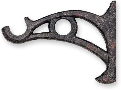 Kirsch sale Boston Mall Wrought Iron Double Bracket Rust Drapery