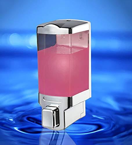 VEA-DE Seifenspender-Flüssigkeitsbehälter Seifenspenderpumpe Kunststoff-Wandmontage Shampoo Duschgel Seifenspenderpumpe Presseart Flasche für Bad, Hotel, Zuhause kann Lotionspender eingefügt Werden