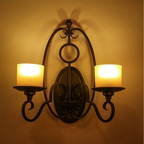 Amerikanisches Land Retro-Peeling Schattige Vorhänge Individualität Kreatives Bügeleisen Schlafzimmer Stab Aisle-Kerze Wandlicht