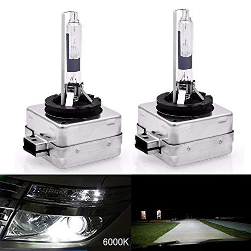 HSUN Lot de 2 ampoules xénon D1R HID - 12 V 35 W - En métal - De qualité supérieure - 6000 K - Blanc pur