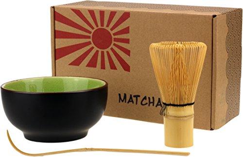 Urban Lifestyle Stile di Vita Urbano Matcha, Matcha ginestra e Cucchiaio Set Taro (Verde)