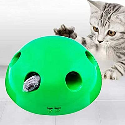 KANUBI Interactive Motion Cat Toy, Pop N' Play Cat Toy Funny Cat Toy Sharpening Claw Pet Toy,Electronic Smart Random Moving Feather Mouse Teaser, pop n play interactive motion cat toy