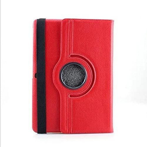 LIUCHEN Funda de tabletaPara Samsung Galaxy Note 10.1 P600 P601 Tab Pro T520 T525 Tablet PC PU Funda Protectora de Cuero con Soporte, Rojo