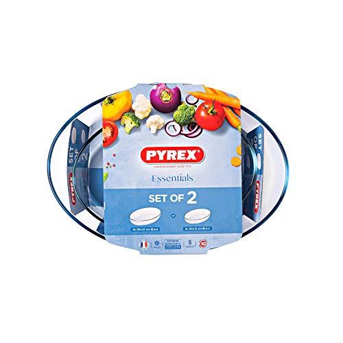 Pyrex S2 FTES Oval 39x27 30x21 Essentials PX Fuente para horno, Vidrio borosilicato, Multicolor