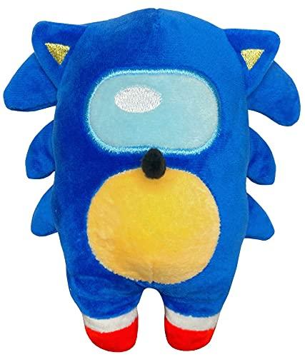Blue Hedgehog Among Plush Stuffed D…
