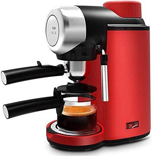 KELITINAus Máquina de Café, Mini Máquina de Café Manual Semiautomática Espumador de Leche Electrodomésticos de Cocina Filtro de Café,
