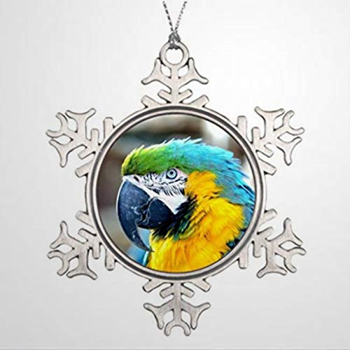 BYRON HOYLE Personalised Christmas Tree Decoration Colorful Parrot - Waterford Christmas Orname Christmas Snowflake Ornaments Xmas Decor Wedding Ornament Holiday Present