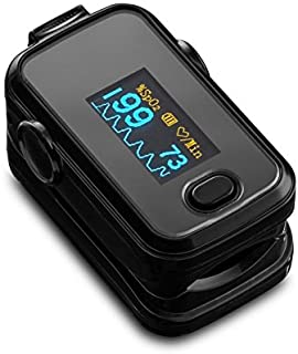 Dedo Pulso Oxímetro SPO2 pulso pulso con OLED - monitor en color Negro