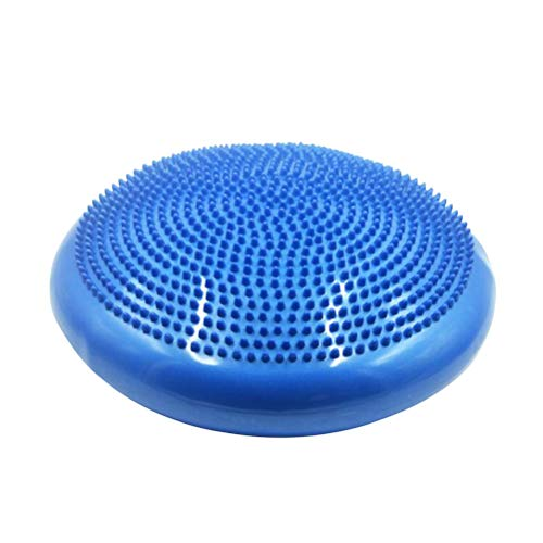 LIOOBO Muscular Relaxation Foot Massager Exercise Balance Stability Disc Yoga Foot Massage Ball Mat with Hand Pump for Home Office Desk Chair Kids Trainer (Blue)