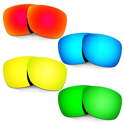 HKUCO Mens Replacement Lenses For Oakley Catalyst Red/Blue/24K Gold/Emerald Green Sunglasses