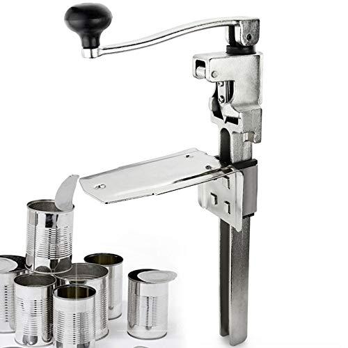 Apriscatole manuale da tavolo con base in acciaio placcato per lattine fino a 11 pollici di altezza (L)