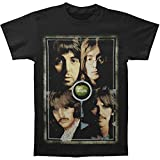 uji Beatles 'Faces' Men's T Shirt Black Camisetas y Tops(XX-Large)