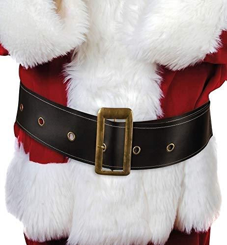 Boland- Cintura Babbo Natale con Fibbia in Metallo per Adulti, Nero, 150 x 9 cm, 13236