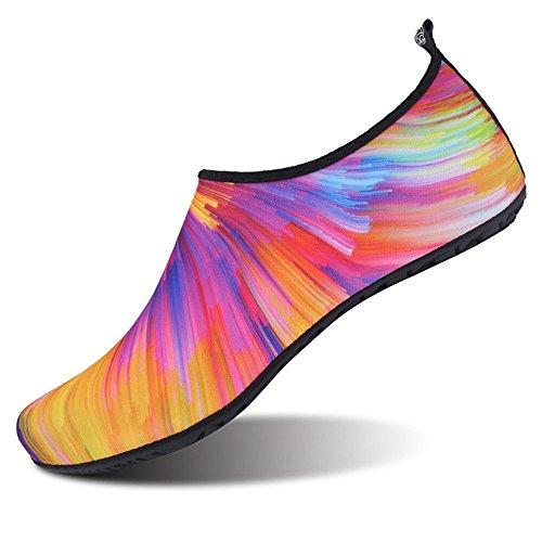 WOWEI Zapatos de Agua Antideslizante Secado Rápido Calcetines de Piel Descalza Escarpines de Verano Deportes Acuáticos para Playa Natación Snorkel Surfeando Yoga Buceo para Mujer Hombre Niños