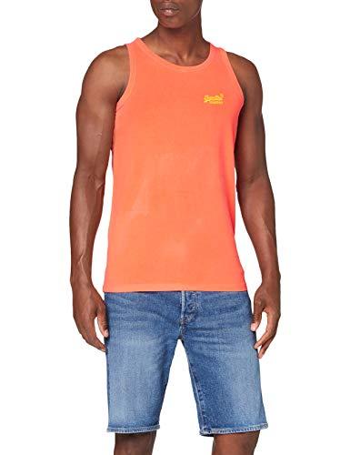 Superdry OL Neon Lite Vest Camiseta sin Mangas, Naranja (Volcanic Orange B5t), L para Hombre
