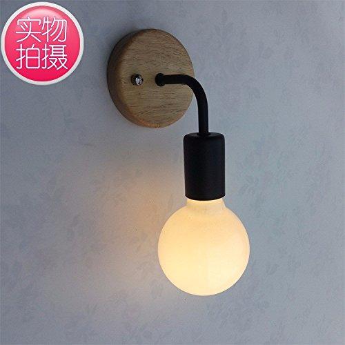 Wandlamp Effen hout nachtkastje tafel dressoir Aisle wandlamp Home verlichting trap, hal Patio smeedijzeren muur lamp
