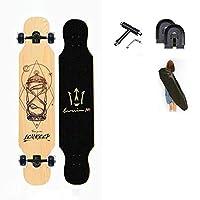 """42""""x8"""" 初心者のためのスケートボード コンプリートスケートボード カラフルな点滅ホイール付き、8層のカナダのメープルウッドデッキ、ロングボード 男の子女の子子供青年大人のために"""