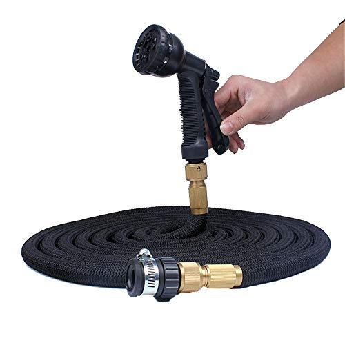 Pistolet de laveuse à Pression 3 Fois télescopique Car Wash Water Gun Jardin Water Pipe Antigel Gun Nettoyeur Haute Pression (Couleur : Black, Size : 75ft)