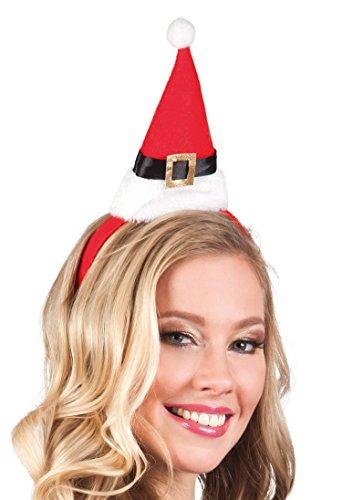 Boland 13407 - haarband kerstmuts, eenheidsmaat, meerkleurig