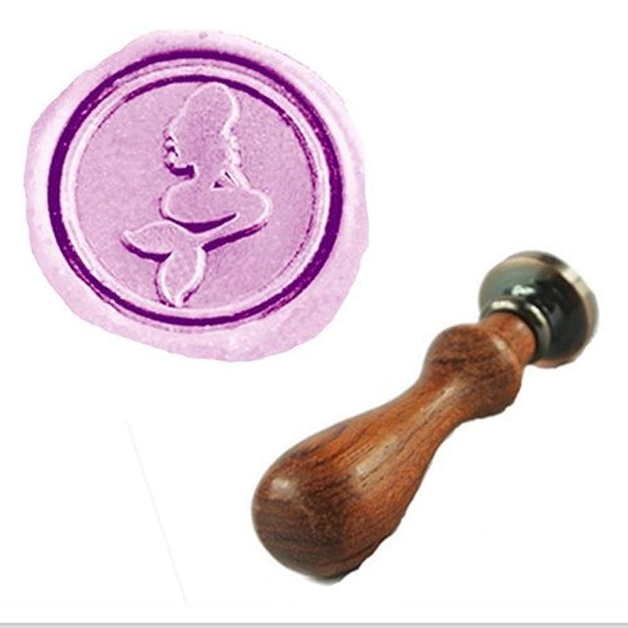 MDLG Vintage Pretty Mermaid Custom Picture Logo Wedding Invitation Wax Seal Sealing Stamp Rosewood Handle Set