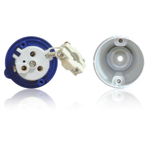 16A 3 Pin Male Plug for Tent/Motorhome/Caravan Hookup IEC 60309 309 IP449 2P+E, 6h