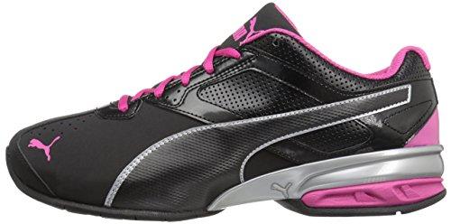 PUMA Women's Tazon 6 WN's fm Cross-Trainer Shoe Black Silver/Beetroot Purple, 9 M US