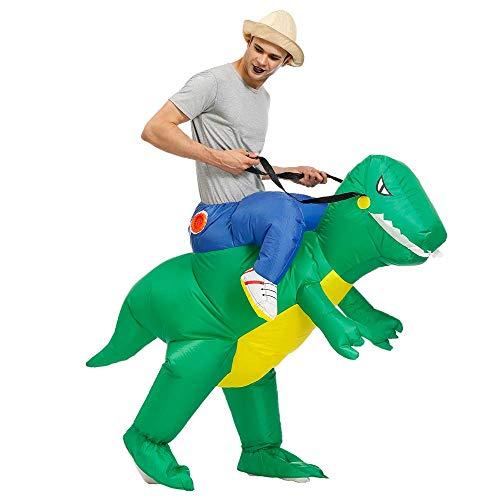 Kooy Inflatable Dinosaur Costume Halloween Party Costumes Inflatable T-Rex Costumes Blow up Costumes Adult/Kids