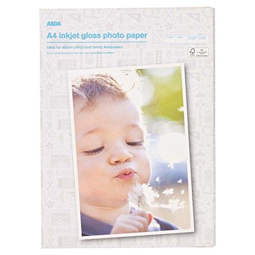 Papel fotográfico A4 prémium brillante, 180 g/m² para impresoras ...